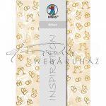 Kartonpapír - Esküvői metálfényű arany és krém mintás dombornyomott karton, A4 - 5 lap