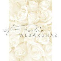Kartonpapír - Esküvői Starlight karton, Nagy krém és arany rózsa mintás design karton 1 lap