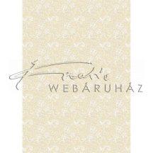 Kartonpapír - Esküvői Starlight ornament mintás arany és krém design karton, A4 - 5 lap