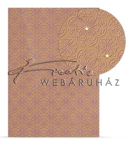 7ae79e2dc207 Kartonpapír csomag - Csillogó design karton, klasszikus mintával -  25lap/csomag