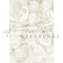 Kartonpapír - Esküvői Starlight karton, Nagy fehér és ezüst rózsa mintás design karton 1 lap
