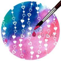Kartonpapír, színváltós varázspapír - Szívek, varázslatos színváltós esküvői design karton - 1 lap