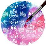 Kartonpapír, színváltós varázspapír - Esküvői torta, varázslatos színváltós karton, 250 gr., A4
