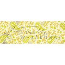 Dekorpapír - India style Hena 04 motívum, kézzel készített  papír, Zöld-sárga henna