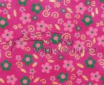 Dekorpapír - India style Rashmika 03 motívum, kézzel készített Natúr papír, Rózsaszín, zöld