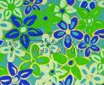 Dekorpapír - India style Garja 01 motívum, kézzel készített Natúr papír, kékes virágminta