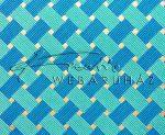 Dekorpapír - India style Garja 05 motívum, kézzel készített  papír, kék szövésminta