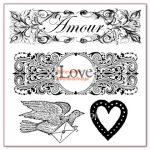 Kreatív hobby - Akrilnyomda készlet - Pecsételő készlet - LOVE feliratok