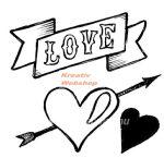 Kreatív hobby - Akrilnyomda készlet - Pecsételő készlet - LOVE