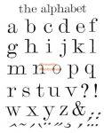 Kreatív hobby - Akrilnyomda készlet - Pecsételő készlet - Nyomtatott kisbetűk