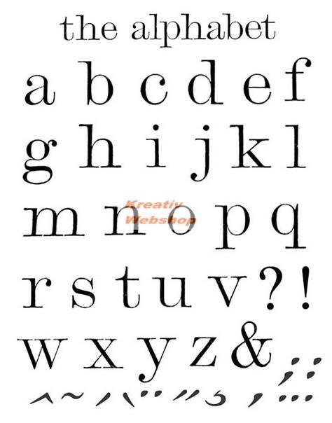 3c995a1739 Kreatív hobby - Akrilnyomda készlet - Pecsételő készlet - Nyomtatott  kisbetűk