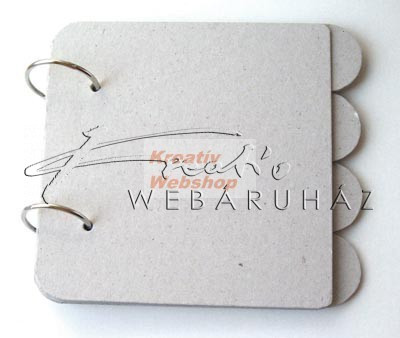 Album - Szürkekarton album - Filofax