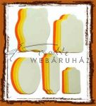 Kreatív hobby - Narancs, mimóza, pasztell sárga és krémszínű címkék