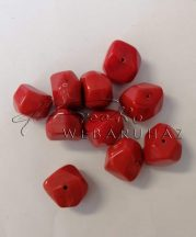 Piros Akril Kő gyöngy (nagy)