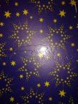 Transzparens papír - Kék csillag mintás