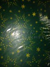 Transzparens papír - Zöld színű csillag mintás