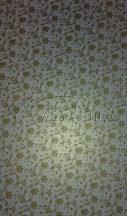 Design papír - Óarany virág mintás fehér iridescent