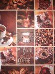 Karton papír - Kávé mintás