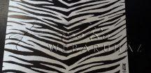 Kartonpapír - Zebra mintás - 10 lap