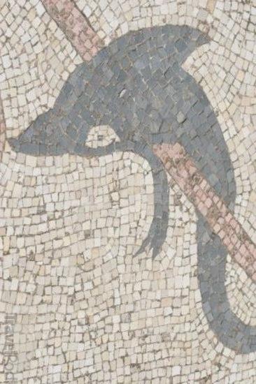 Ókori delfin mozaik